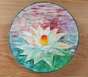 Thousand Oaks Lotus Flower Plate